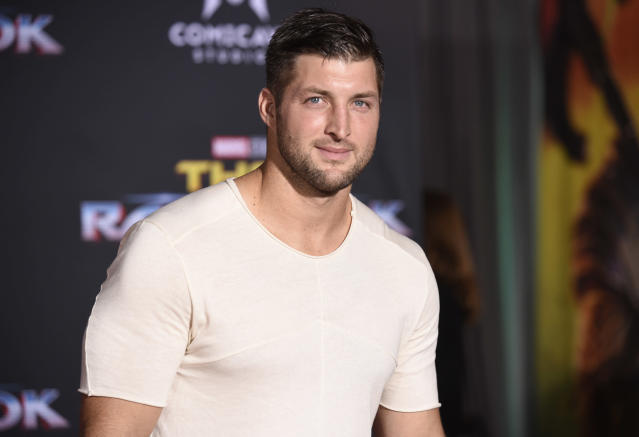 Tim Tebow delivered a legendary pep talk for Tennessee to beat Alabama. (AP)
