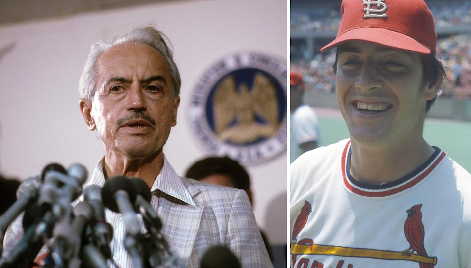 Marvin Miller and Ted Simmons were elected to the National Baseball Hall of Fame on Sunday. (Getty Images)
