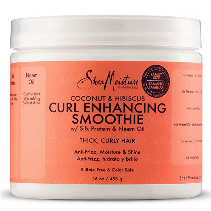 """<h3>Shea Moisture Coconut Hibiscus Curl Enhancing Smoothie</h3><br><br>Add hydration, shine, and definition to your natural curls with a oil-infused smoothie. Plus, the coconut-hibiscus scent smells like a summer vacation in a bottle.<br><br><strong>SheaMoisture</strong> Coconut and Hibiscus Curl Enhancing Smoothie, $, available at <a href=""""https://amzn.to/2GAtwvt"""" rel=""""nofollow noopener"""" target=""""_blank"""" data-ylk=""""slk:Amazon"""" class=""""link rapid-noclick-resp"""">Amazon</a>"""