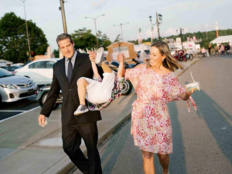 Ryan, with wife Andrea and son Brady, leaves an Italian festival in Youngstown, Ohio, on July 21Mark Hartman for TIME
