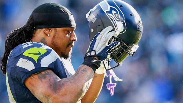 """Oakland is """"strongly considering"""" trading for Beast Mode, who remains on the Seahawks' reserve/retired list."""
