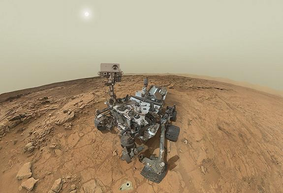 Self-portrait of NASA's Mars Curiosity Rover includes a sweeping panoramic view of the Yellowknife Bay region of the Red Planet's Gale Crater