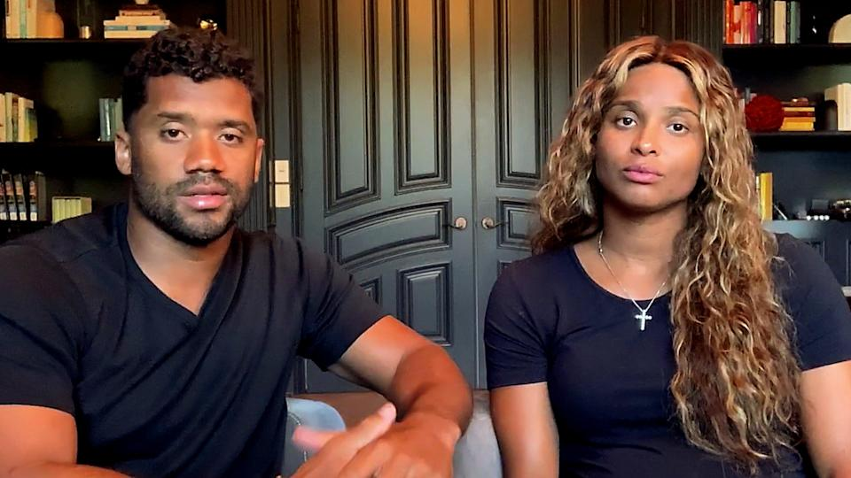 Russell Wilson and Ciara pictured at home in June 2020. (Getty Images for All In WA)