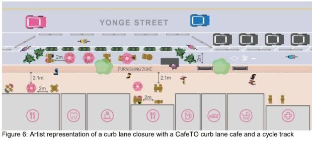 The report suggests temporary changes to Yonge Street that would mirror the redesign of Danforth Avenue undertaken last year.