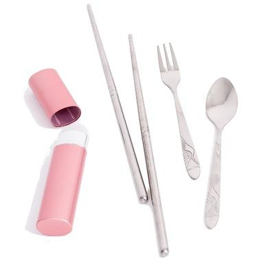 Onyx Pink Cutlery Set. Image via Well.ca.