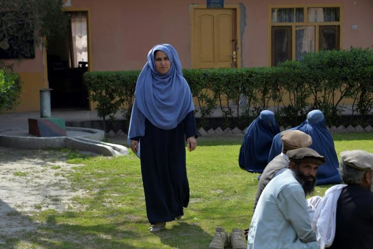 """Torpekay Shinwari is increasingly concerned women would be """"suppressed"""" if the militants gain ground (AFP Photo/NOORULLAH SHIRZADA)"""