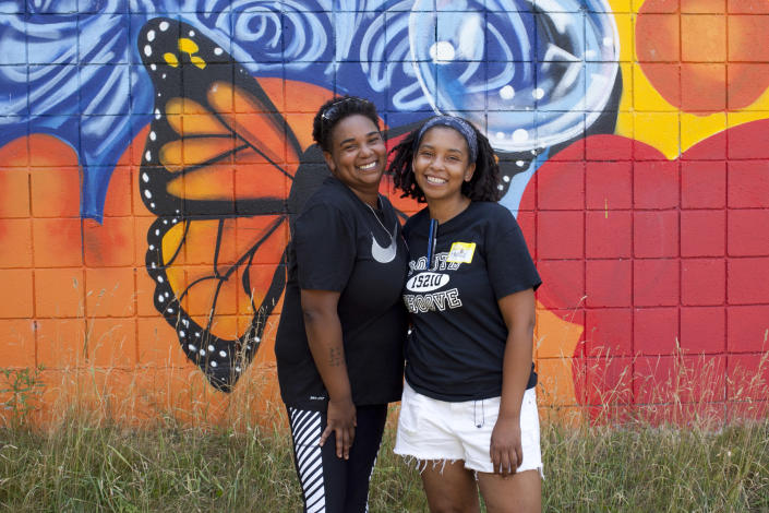 Taray and Raynise Kelly grew up gardening with their grandparents and they turned their love of gardening into a nursery and a day camp for neighborhood children.  (Courtesy Sarah Warda)