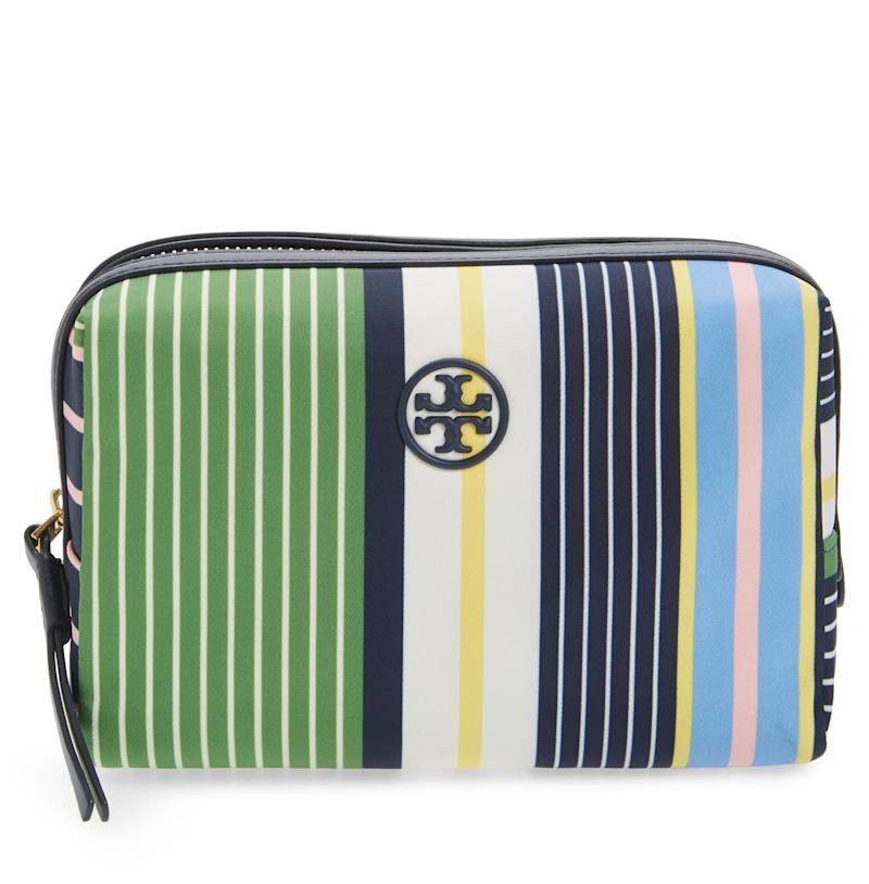 Small Perry Stripe Cosmetics Case. Image via Nordstrom.