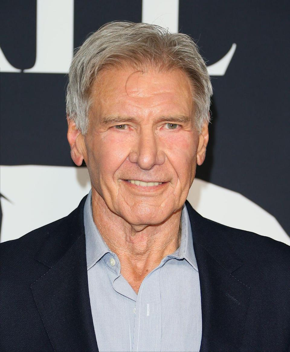 "<p>Ford has never shied away from embracing his silver fox status. He even <a href=""https://www.contactmusic.com/harrison-ford/news/ford-refused-to-cover-grey-hair-for-indy-role_1069416"" rel=""nofollow noopener"" target=""_blank"" data-ylk=""slk:refused to dye his gray hair"" class=""link rapid-noclick-resp"">refused to dye his gray hair</a> for the 2008 revival of the <em>Indiana Jones </em>franchise.  </p>"