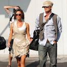 <p>Victoria Beckham and David Beckham arrive at Venice Airport in September 2006 for the 63rd International Venice Film Festival.</p>