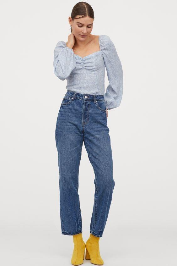 "<p>Style these <a href=""https://www.popsugar.com/buy/HampM-Straight-High-Ankle-Jeans-585698?p_name=H%26amp%3BM%20Straight%20High%20Ankle%20Jeans&retailer=www2.hm.com&pid=585698&price=30&evar1=fab%3Aus&evar9=45615413&evar98=https%3A%2F%2Fwww.popsugar.com%2Ffashion%2Fphoto-gallery%2F45615413%2Fimage%2F47583280%2FHM-Straight-High-Ankle-Jeans&list1=shopping%2Cdenim%2Cwinter%2Cwinter%20fashion&prop13=mobile&pdata=1"" class=""link rapid-noclick-resp"" rel=""nofollow noopener"" target=""_blank"" data-ylk=""slk:H&M Straight High Ankle Jeans"">H&M Straight High Ankle Jeans</a> ($30) with a cute crop top.</p>"
