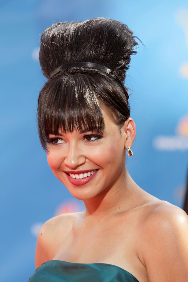 Actress Naya Rivera arrives at the 62nd Annual Primetime Emmy Awards held at the Nokia Theatre L.A. Live on August 29, 2010 in Los Angeles, California.
