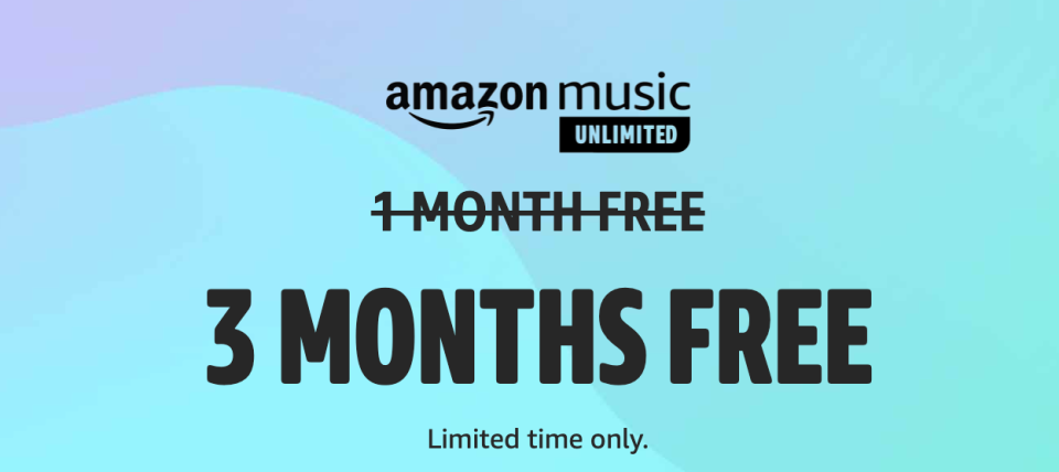 Get three months of Amazon Music Unlimited for free! (Photo: Amazon)