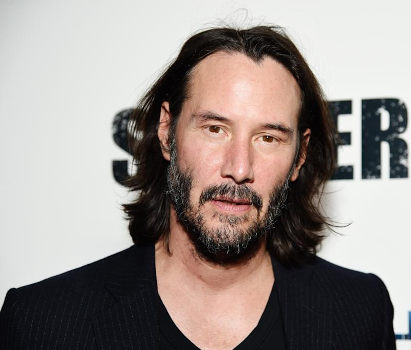 "LOS ANGELES, CALIFORNIA - SEPTEMBER 24: Keanu Reeves attends Los Angeles Special Screening of ""Semper Fi"" on September 24, 2019 in Los Angeles, California. (Photo by Michael Kovac/Getty Images for Lionsgate)"