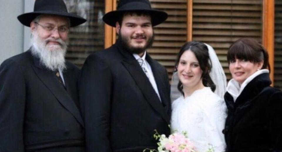 """Miami-Dade police identified the bodies of Tzvi Ainsworth (far left) and Ingrid """"Itty"""" Ainsworth (far right) in the rubble  on Monday. Source: Facebook"""
