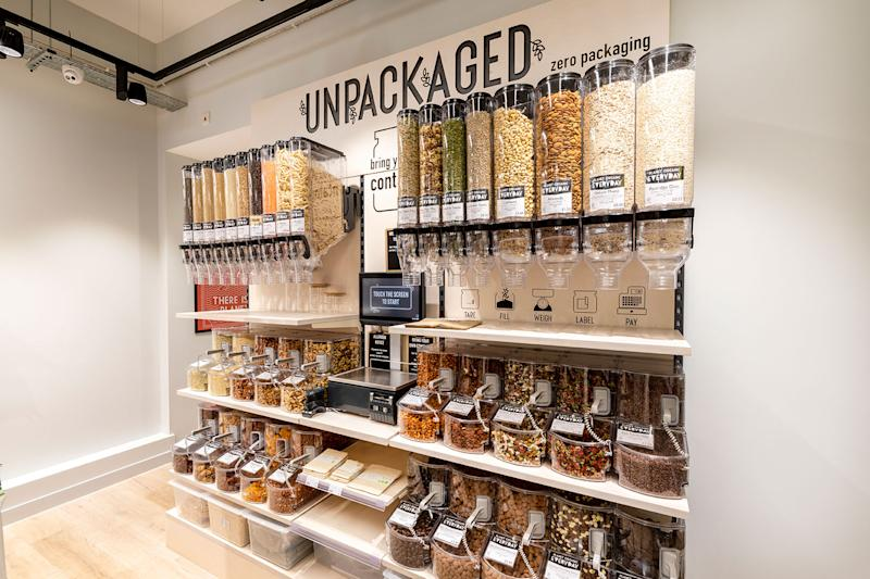 Planet Organic unpacked food stand
