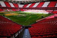 General view of San Mames stadium as the UEFA decides which venues will hold UEFA Euro Cup 2020 matches, in Bilbao