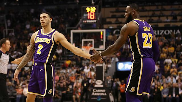 Lonzo Ball and Lance Stephenson were both hailed by LeBron James after the improving LA Lakers recorded a second victory in succession.