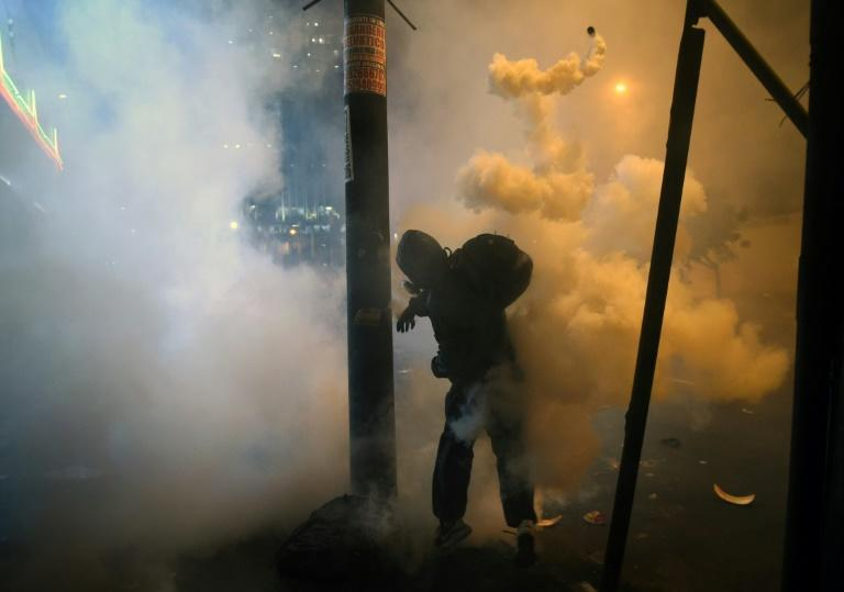 Ernesto Benavides won second prize in the Spot News - Stories for photographs taken at a protest in Lima