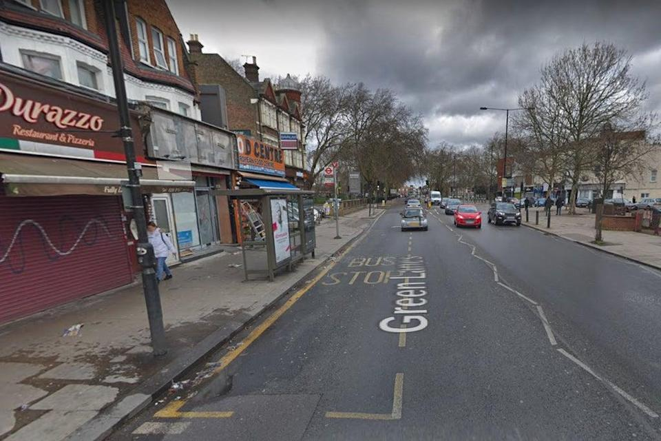 The area in Green Lanes where the shooting took place (Google Maps)