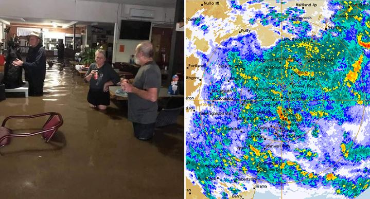 Parts of the state have already experienced severe flooding. Source: Facebook - Kellie Morley/BoM