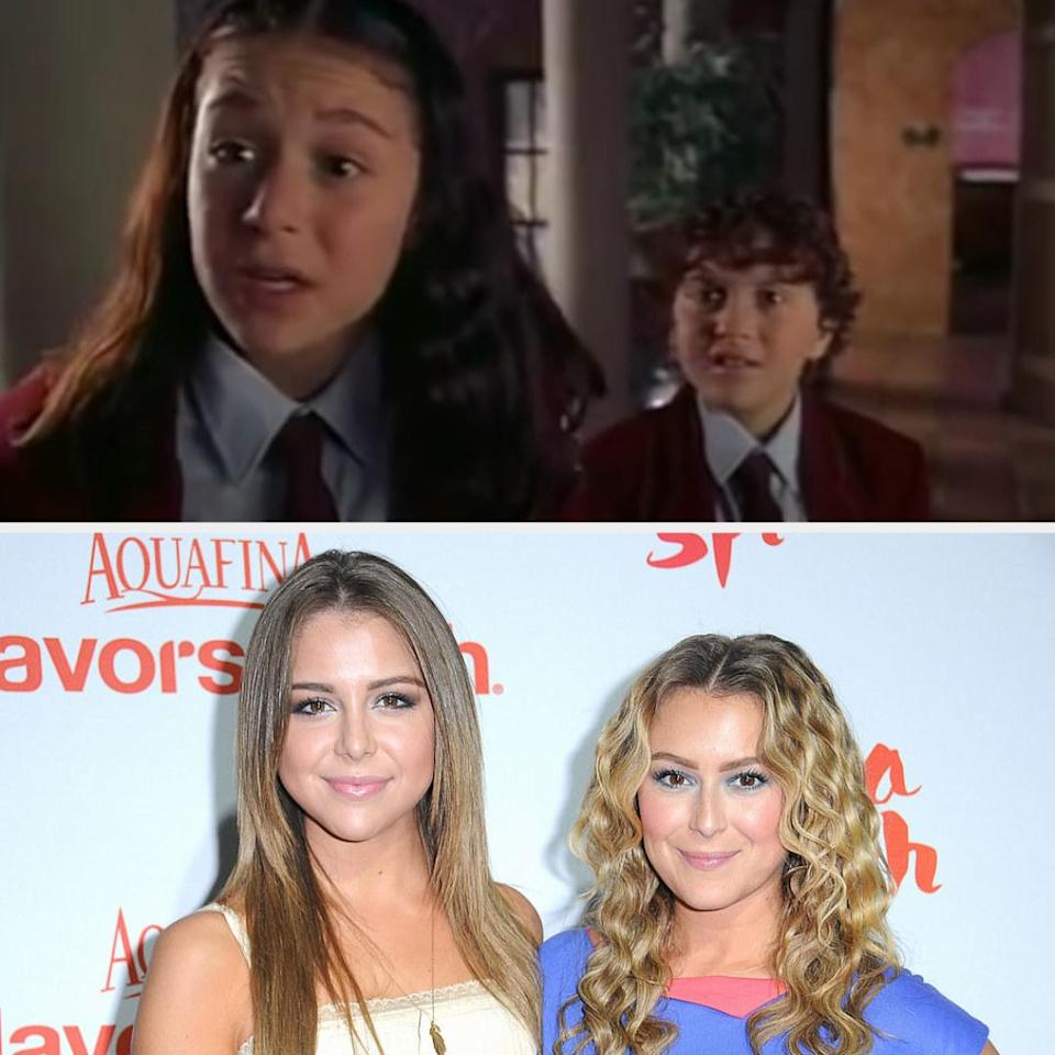 Above, Carmen and Juni are finding out that their parents are spies. Below, Alexa is with Mackenzie at an event