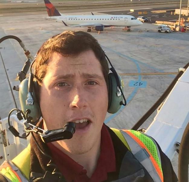 This undated selfie picture available on social media on August 11, 2018 shows Richard B Russell, a ground service agent at Seattle-Tacoma International Airport who stole a plane and flew it for about an hour before crashing on an island