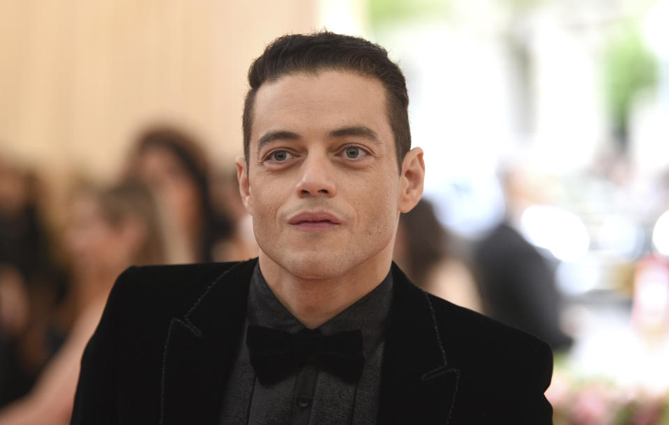 """Rami Malek attends The Metropolitan Museum of Art's Costume Institute benefit gala celebrating the opening of the """"Camp: Notes on Fashion"""" exhibition on Monday, May 6, 2019, in New York. (Photo by Evan Agostini/Invision/AP)"""
