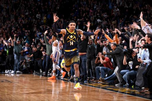 DENVER, CO – FEBRUARY 1: Gary Harris #14 of the Denver Nuggets celebrates after hitting the game winning shot against the Oklahoma City Thunder on February 1, 2018 at the Pepsi Center in Denver, Colorado. (Photo by Garrett Ellwood/NBAE via Getty Images)