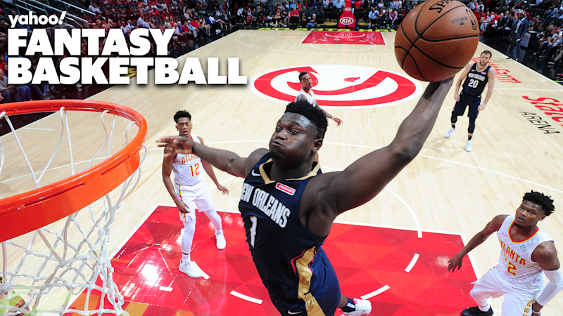 ATLANTA, GA - OCTOBER 7: Zion Williamson #1 of the New Orleans Pelicans dunks the ball against the Atlanta Hawks during a pre-season game on October 7, 2019 at State Farm Arena in Atlanta, Georgia. NOTE TO USER: User expressly acknowledges and agrees that, by downloading and/or using this Photograph, user is consenting to the terms and conditions of the Getty Images License Agreement. Mandatory Copyright Notice: Copyright 2019 NBAE (Photo by Scott Cunningham/NBAE via Getty Images)