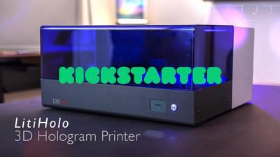 LitiHolo introduces the world's first Desktop 3D Hologram Printer. A Kickstarter campaign to fund initial production is now live.