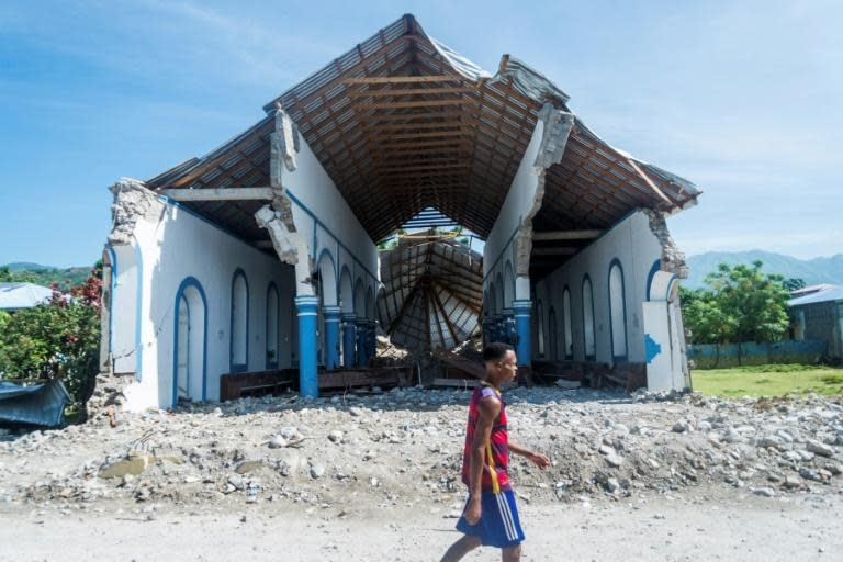 In just a few seconds the historic Immaculee Conception church in the Haitian town of Les Anglais was destroyed by the August 14, 2021 earthquake