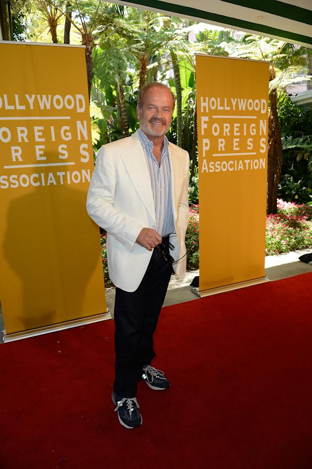 BEVERLY HILLS, CA - AUGUST 09:  Actor Kelsey Grammer arrives at the Hollywood Foreign Press Association's 2012 Installation Luncheon held at the Beverly Hills Hotel on August 9, 2012 in Beverly Hills, California.  (Photo by Kevork Djansezian/Getty Images)