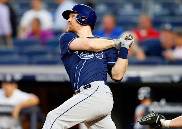 "<a class=""link rapid-noclick-resp"" href=""/mlb/players/8921/"" data-ylk=""slk:Logan Forsythe"">Logan Forsythe</a> will help the Dodgers win now. (Getty Images/Jim McIsaac)"