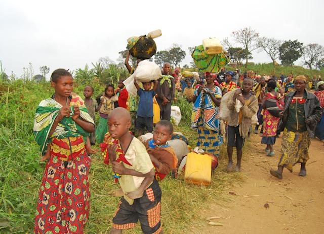 Displaced people in North Kivu