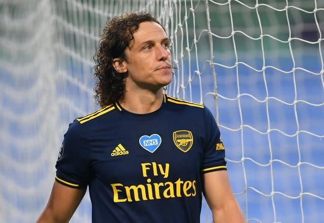 David Luiz could return to action for Arsenal having been sent off at Manchester City last week. (Laurence Griffiths/NMC Pool)