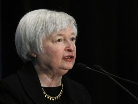 Federal Reserve Vice Chair Janet Yellen addresses a conference in Washington