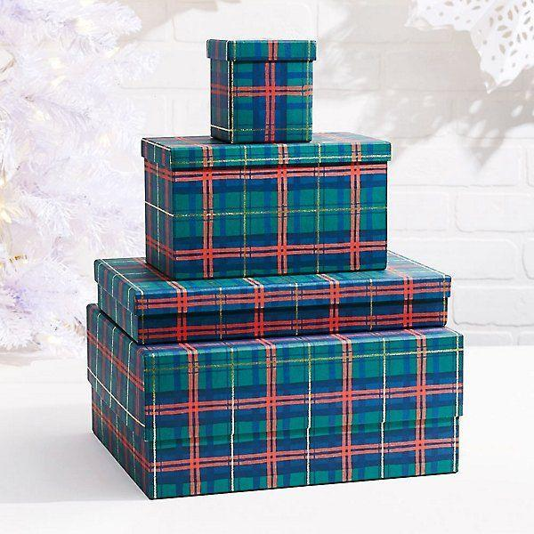 """<p>papersource.com</p><p><strong>$16.95</strong></p><p><a href=""""https://www.papersource.com/gift-wrap/holiday-plaid-gift-boxes-bx10002072.html"""" rel=""""nofollow noopener"""" target=""""_blank"""" data-ylk=""""slk:Shop Now"""" class=""""link rapid-noclick-resp"""">Shop Now</a></p>"""
