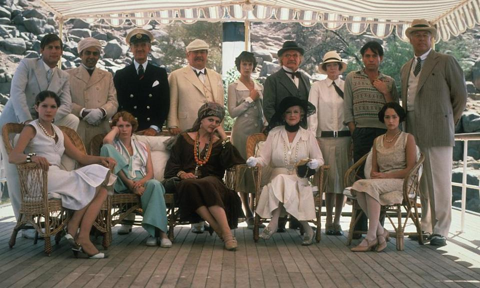 The cast of Death on the Nile, 1978.