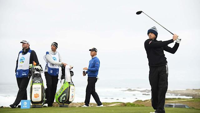With a 4-under-par 68 Saturday at Spyglass Hill, Byrd moved into a tie for seventh, six shots off the lead going into the final round. He wouldn't be in that spot if he had not forgotten his passport Monday.