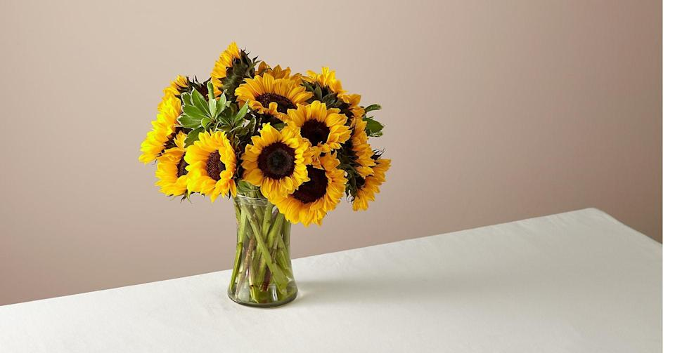 "<h2>Sunflowers</h2> <br><strong>Best for: Leo Moms</strong><br>""If you have a Leo mom seek out sunflowers, huge attention-grabbing sunflowers that will cheer any room up with their sunny disposition.""<br><br><em>Shop</em> <strong><em><a href=""https://www.ftd.com/"" rel=""nofollow noopener"" target=""_blank"" data-ylk=""slk:FTD"" class=""link rapid-noclick-resp"">FTD</a></em></strong> <br><br><strong>FTD</strong> 15 Stem Honey Bee Sunflower in Glass Vase, $, available at <a href=""https://go.skimresources.com/?id=30283X879131&url=https%3A%2F%2Fwww.ftd.com%2Fproduct%2F15-stem-honey-bee-sunflower-in-glass-vase-prd-fb69"" rel=""nofollow noopener"" target=""_blank"" data-ylk=""slk:FTD"" class=""link rapid-noclick-resp"">FTD</a>"