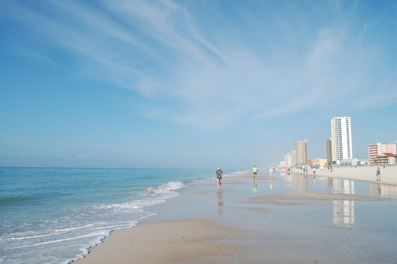 """<p>Also called <a href=""""https://www.gulfshores.com/things-to-do/gulf-shores-main-public-beach-gulf-place/"""" target=""""_blank"""">Gulf Place,</a> this is a fun-filled strand of pale sands where Highway 59 literally dead-ends at the Gulf of Mexico. With three sail-shaded areas and volleyball courts, this beach is a family magnet, and classic seafood joints and beach bars add to the fun. More to love: The city of Gulf Shores just completed a multi-million-dollar project to enhance this beach for public use, including ADA mats near disabled parking areas that allow wheelchair and walker users access to the beach. Parking is $5 for up to four hours or $10 for all day from March 1 - November 30; get there early before things fill up, and check the <a href=""""http://www.gulfshoresal.gov/378/Rules-Regulations"""" target=""""_blank"""">city's rules</a> regarding beach umbrellas and tents. </p>"""