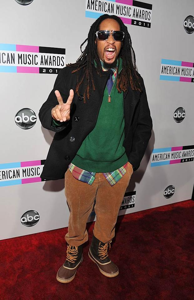 Rapper Lil John arrives at the 2011 American Music Awards held at the Nokia Theatre L.A. LIVE. (11/20/2011)