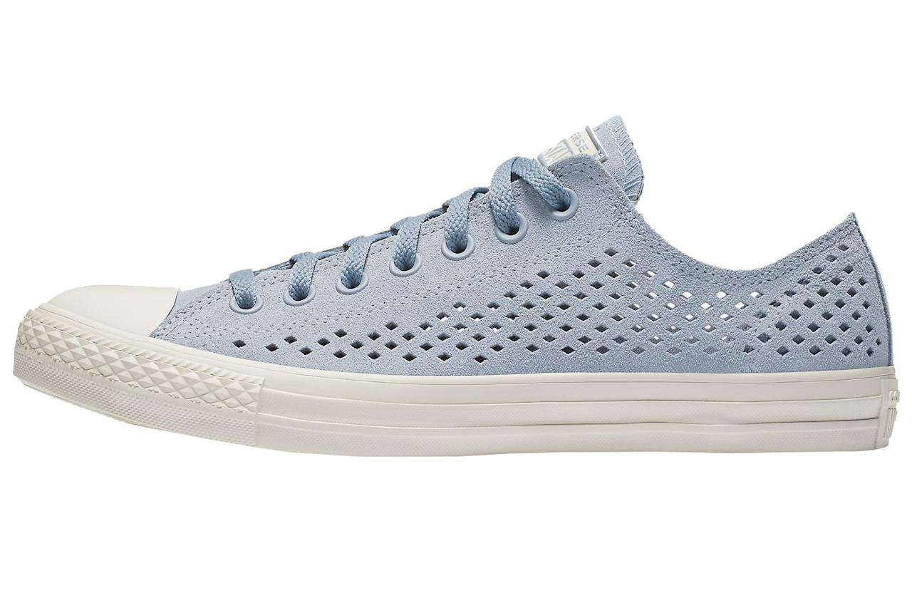 """<p><strong>Chuck Taylor All Star Perforated Low Top</strong><strong></strong></p><p>Yep, even your classic Chucks are available with breathable perforated uppers nowadays. </p><p><em>$70, <a rel=""""nofollow"""" href=""""https://store.nike.com/us/en_us/pd/converse-chuck-taylor-all-star-perforated-suede-low-top-unisex-shoe/pid-12434002/pgid-12507315"""">nike.com</a></em></p><p><a rel=""""nofollow"""" href=""""https://store.nike.com/us/en_us/pd/converse-chuck-taylor-all-star-perforated-suede-low-top-unisex-shoe/pid-12434002/pgid-12507315"""">SHOP</a></p>"""