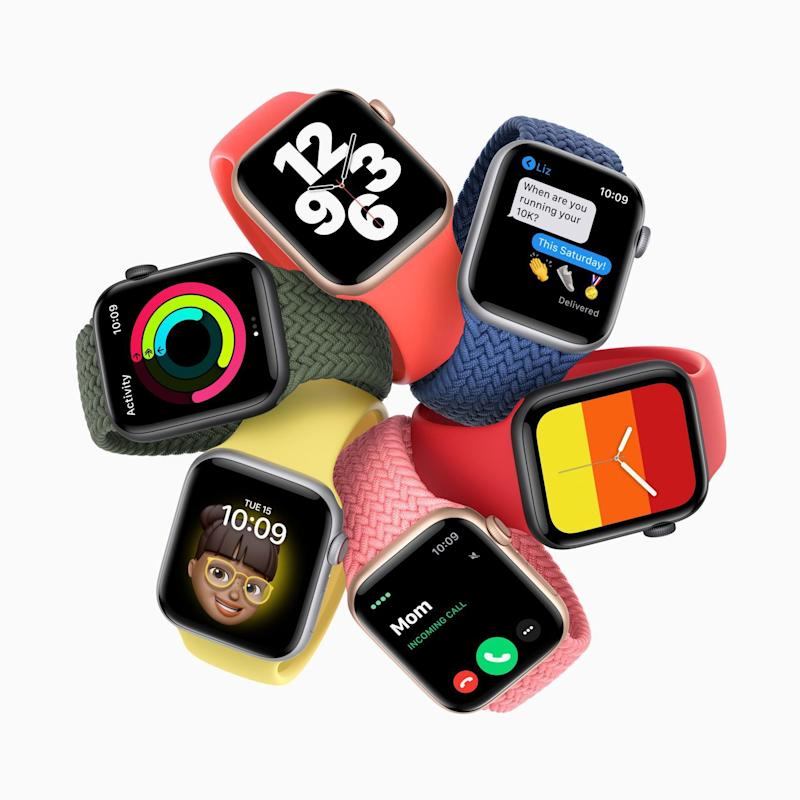 ANDOUT HANDOUT/EPA-EFE/Shutterstock (10777837m) A handout video still image made available by Apple Inc. debuting Apple Watch SE during an Apple Event at Apple Park in Cupertino, California, USA, 15 September 2020 - Apple