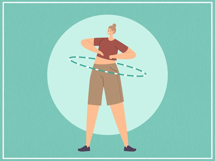 <p>Hooping is an accessible, low-impact way to keep fit at home</p> (iStock/The Independent)