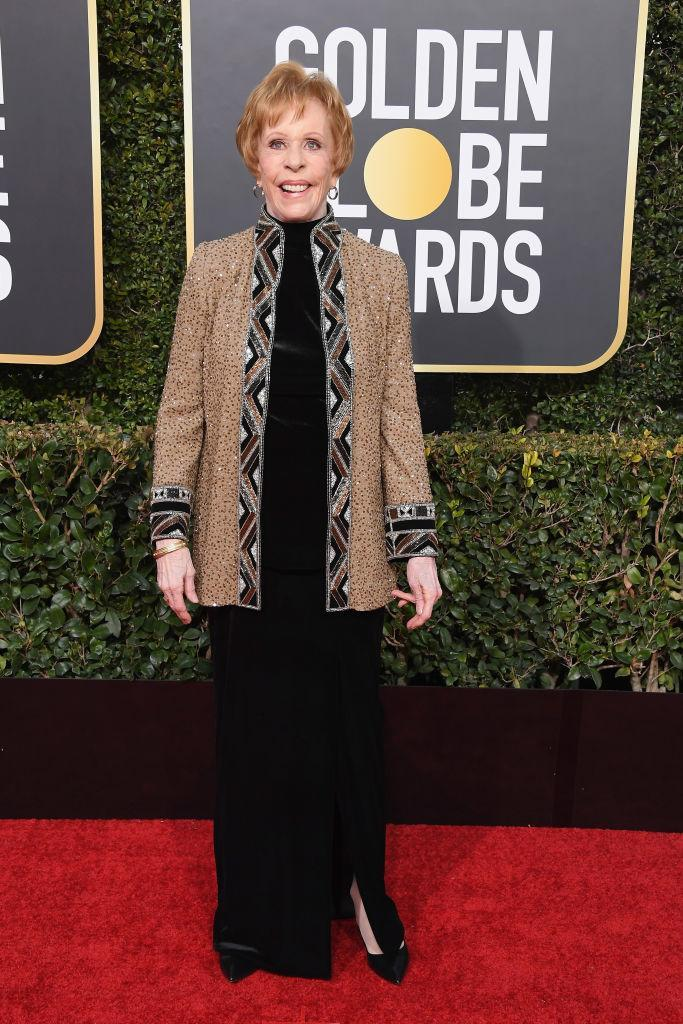 <p>Carol Burnett attends the 76th Annual Golden Globe Awards at the Beverly Hilton Hotel in Beverly Hills, Calif., on Jan. 6, 2019. (Photo: Getty Images) </p>