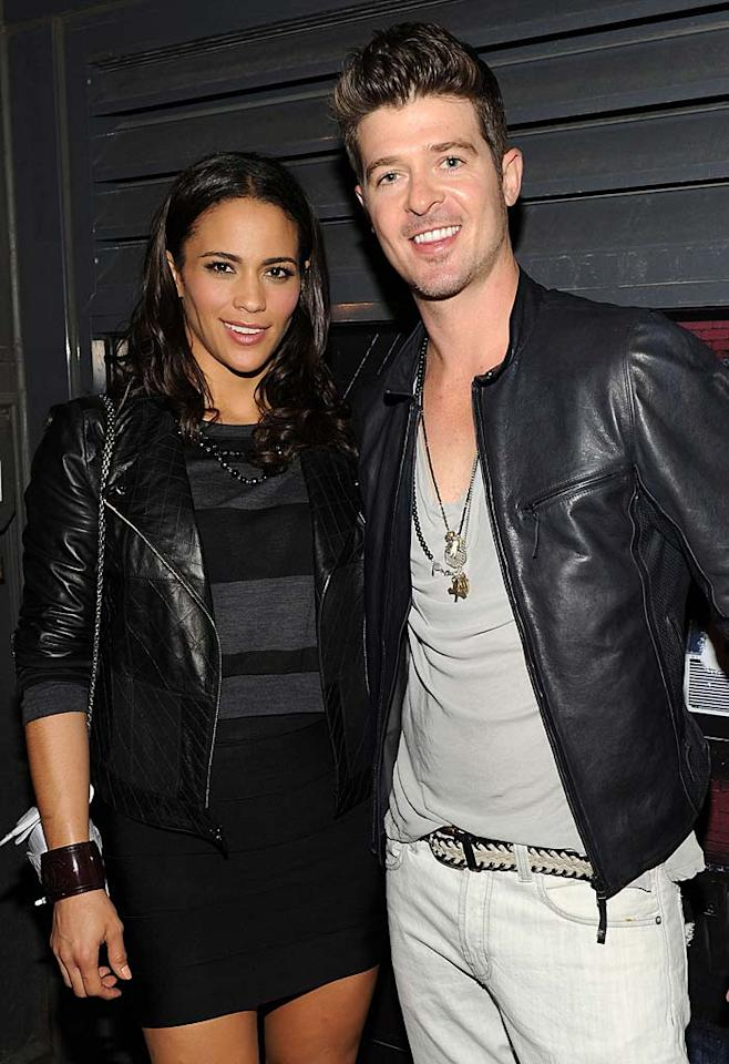 "Crooner Robin Thicke and his actress wife Paula Patton debuted their first production together, son Julian Fuego, on April 6. Grandad Alan Thicke told People.com that Julian ""already has Robin's voice, Paula's sense of drama -- he arrived a little early -- and my hair."" Bryan Bedder/<a href=""http://www.gettyimages.com/"" target=""new"">GettyImages.com</a> - September 9, 2010"