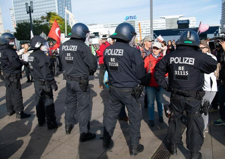 Around 2,000 people protested in Berlin against coronavirus restrictions