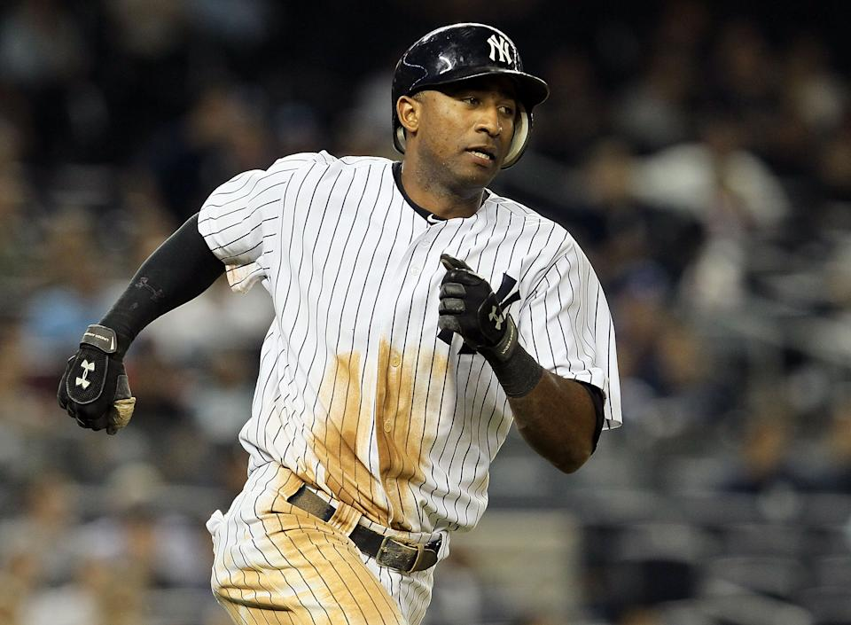 NEW YORK, NY - JUNE 15:  Eduardo Nunez #26 of the New York Yankees in action against the Texas Rangers on June 15, 2011 at Yankee Stadium in the Bronx borough of New York City. The Yankees defeated the Rangers 12-4.  (Photo by Jim McIsaac/Getty Images)